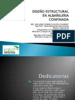 DISEÑO ESTRUCTURAL EN ALBAÑILERIA CONFINADA