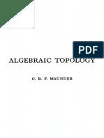 Algebraic Topology Maunder
