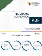 Presentación del programa económico