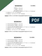 Matematika II 11.9.2012.