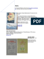 Ref. Books on Vedic Maths