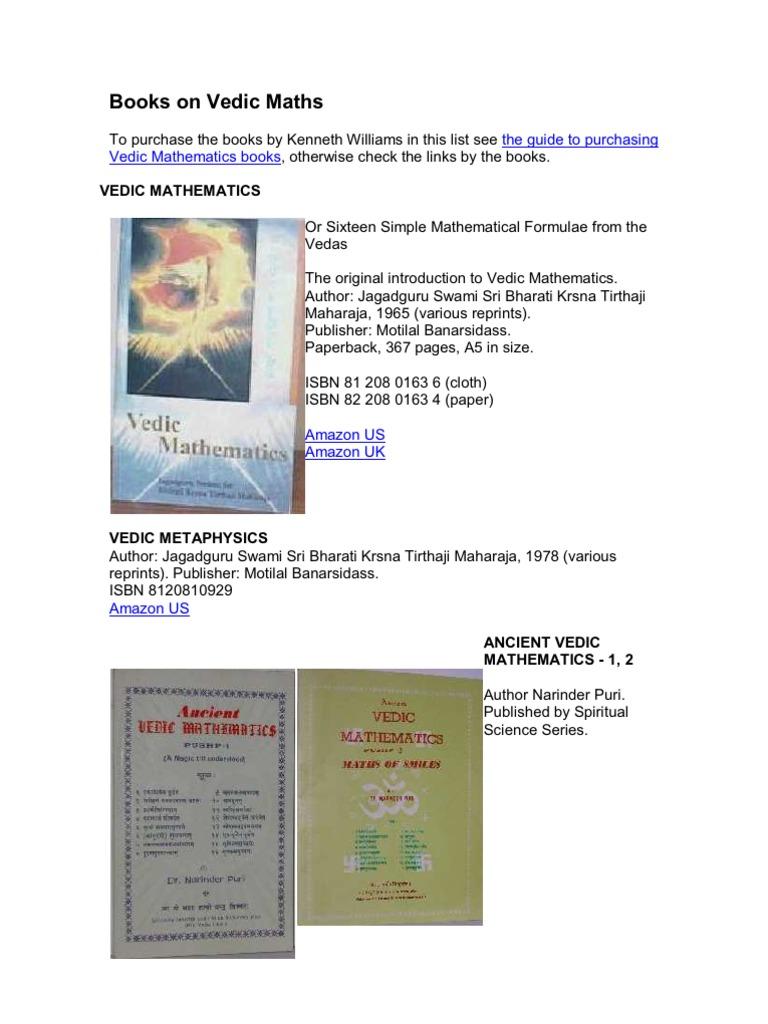 Vedic Math Book Pdf