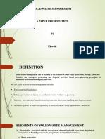 Presentation1 Solid Waste