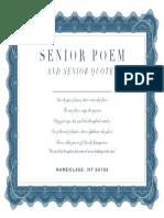 Ivy Senior Quotes Poems