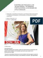 PERISCOPE LOS ESTÍMULOS FISCALES A LOS PRODUCTORES DE BACANORA Y DE BEBIDAS ARTESANALES FORTALECERÁN