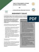 Biodiversity Toolkit Guidelines