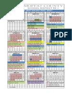 Moffat County School District 2018-19 Academic Calendar