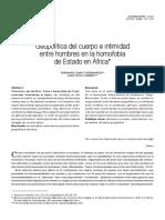 Fernando Zarco y Joan Puyol-Geopolítica del cuerpo e intimidad entre hombres en la homofobia de Estado en África