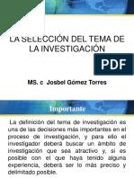 Seleccion Del Tema Investigacion