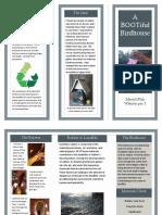 rain boot birdhouse brochure