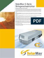 Solarmax C-Series Data ST Deu