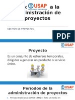 1. Introducción a La Administración de Proyectos
