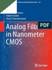 (Springer Series in Advanced Microelectronics 45) Heimo Uhrmann, Robert Kolm, Horst Zimmermann (Auth.)-Analog Filters in Nanometer CMOS-Springer-Verlag Berlin Heidelberg (2014)