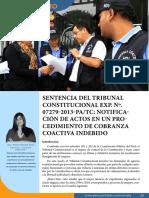 Sentencia Del Tribunal Constitucional Exp. No. 07279-2013-PA-TC - Notificación de Actos en Un Procedimiento de Cobranza Coactiva Indebido