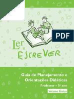 LER E ESCREVER 5_ano_professor
