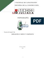 Informe de Topografía - Nivelación