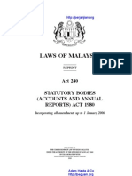 Act 240 Statutory Bodies Accounts and Annual Reports Act 1980
