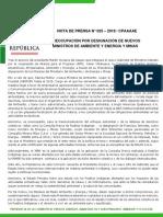 PREOCUPACIÓN POR DESIGNACIÓN DE NUEVOS MINISTROS DE AMBIENTE Y ENERGÍA Y MINAS