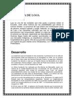 Historia de Loja
