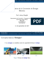 Principio básicos de la conversión de la energía eléctrica