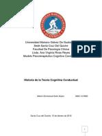 Historia de La Teoría Cognitiva Conductual