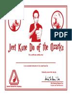 Ozark JKD Certificate