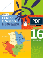 Programme de la Fête de la science en Poitou-Charentes