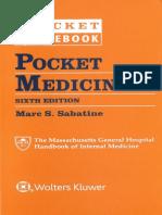 Pocket Medicine the Massachusetts General Hospital Handbook of Internal Medicine, 6th Edition