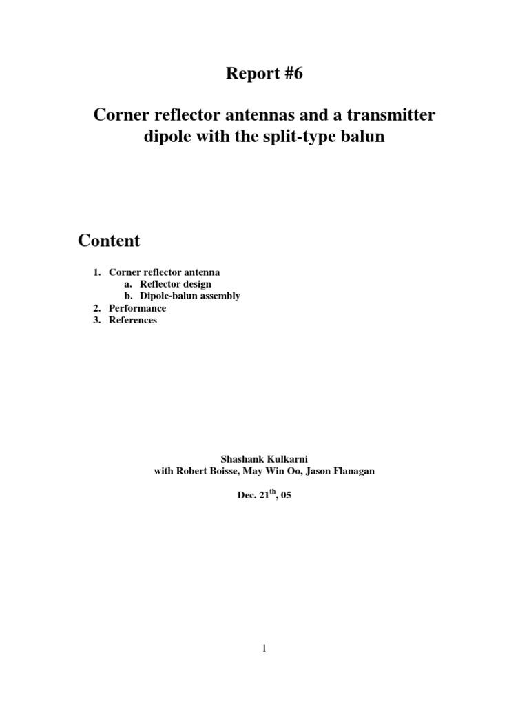 Corner Reflector Antenna   Antenna (Radio)   Telecommunications