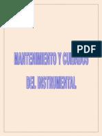 mantenimientos y cuidados del instrumetal