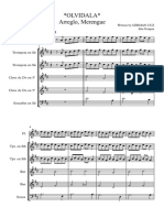 Olvidala, Banda Merengue - Score and Parts