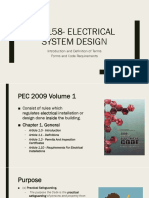 EE 158 - Electrical System Design (LECTURE 1)