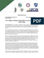 AHCU Press Release