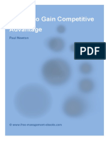 5 Tools to Gain Competitive Advantage
