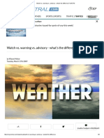 Watch vs. Warning vs. Advisory - What's the Difference WEATHER WARNINGS CATEGORIES
