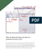 Access 2013 Entorno-Tipos Datos