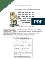 Atividade de Português Sobre Variação Linguística