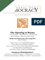 The Opening in Burma