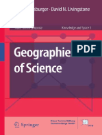 [Knowledge and Space 3] David N. Livingstone (auth.), Peter Meusburger, David Livingstone, Heike Jöns (eds.) - Geographies of Science (2010, Springer Netherlands)