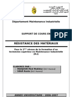 Support de Cours Resistance Des Materiaux