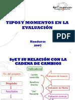 Tipos y Momentos en Evaluación