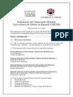 Campeonato Mundial Universitario 2016 Debate