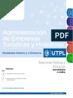 Guía Didáctica Relaciones y Protocolo