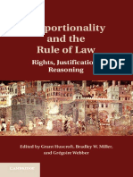 Grant Huscroft, Bradley W. Miller, Grégoire Webber - Proportionality and the Rule of Law_ Rights, Justification, Reasoning (2016, Cambridge University Press)