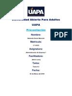 Tarea 2 de Administracion UAPA