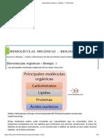 Biomoléculas Orgánicas – Biología 1 _ CiberTareas