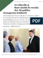 Scandal între Dăncilă şi Iohannis