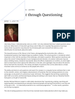 Gaining Light Through Questioning