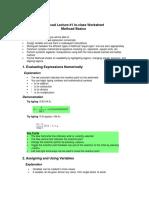 Mathcad Basics Worksheet