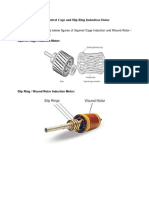 Difference Between Motor Squirrel Cage and Slip Ring Induction Motor